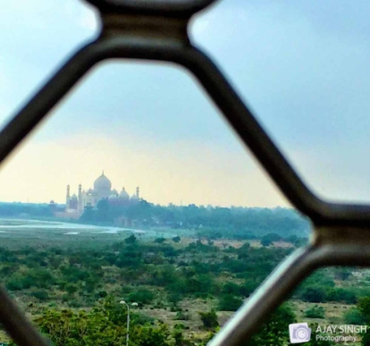 Taj view from Agra Fort