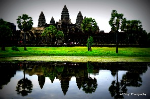 Angkor Wat and its Reflection in the pond