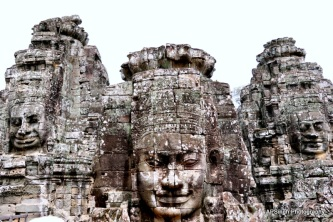 Laughing Faces of Bayon Temple
